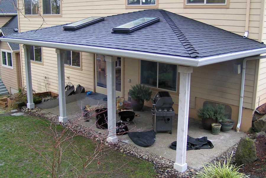 Custom patio covers vancouver wa enclosed custom patio cover for Covered patio cost