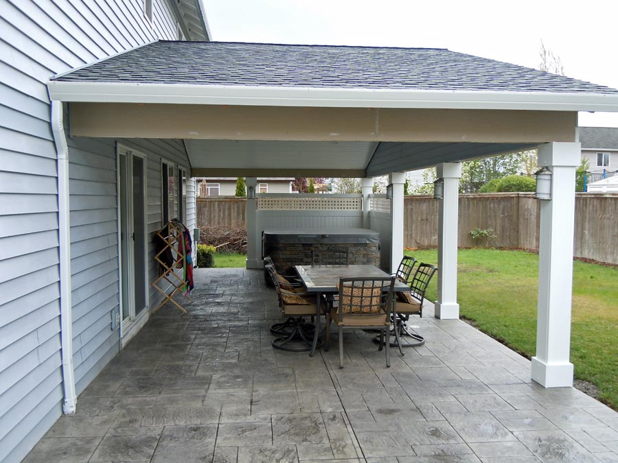 Custom Patio Covers Vancouver WA| Enclosed Custom Patio Cover on Backyard Patio Cover  id=62862
